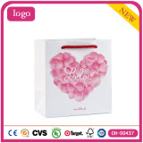 Bolsas de papel románticas del regalo de la ropa del supermercado del día de tarjeta del día de San Valentín