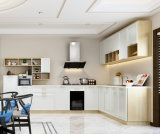Armario europeo de la cabina de cocina del MDF de la laca del estilo