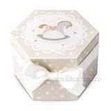 Dozen van Cupcake van de Doos van de Kaars van het Paard van Kerstmis van de douane de Hexagonale Mini