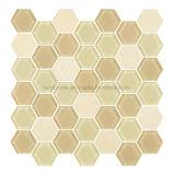 Verre Gris Beige hexagonal et mélanger de l'intérieur Mosaïque décoratif