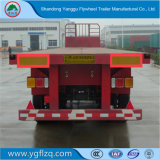 Flywheel 30-45 Ton Capacity Flat-Bed Semi Trailer for Cargo/Container Transport