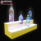 [كونتر-توب] خشبيّة شراب [بوتّل هولدر] خمر عرض حامل قفص مع ضوء