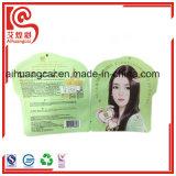 Pedazos disponibles de la máscara que empaquetan el bolso plano plástico