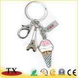 공장 공급 형식 주문 금속 아이스크림 탑 Keychain
