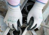 Anti-Slip 기름 증거 안전 일 장갑을 입히는 13G 니트릴