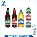 Crear la escritura de la etiqueta impermeable adhesiva fuerte de la etiqueta engomada para requisitos particulares de la botella de cerveza