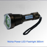 Linterna LED UV recargable 365nm