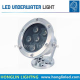 La luz exterior impermeable IP68 6W LED Lámpara de submarino