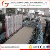 Linha de madeira da máquina da placa do painel Extruder/PVC da porta de WPC