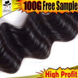 Плетение волос от 6A Индийского Реми прав индийских волос