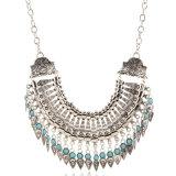 Заявление ожерелья, листьев медали богемского турецкой цепочки Tassel Bib втулку цепочка для женщин украшения