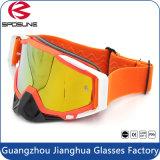 オートバイのEyewearカラーオレンジ保護モトクロスガラス上の適合
