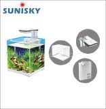 Acquario di vetro del serbatoio di pesci del salone ad angolo retto con la lampada del filtrante LED