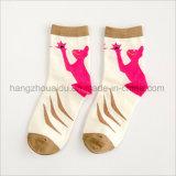 Neuer Entwurfs-Patten gekämmte Baumwollfrauen-Socken