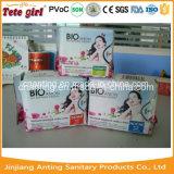 Almofadas sanitárias de amostra livre, guardanapo sanitário da senhora Orgânico Algodão Aníon