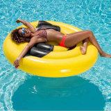 160cm Sorriso insuflável de PVC de cor amarela face exterior flutuar