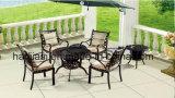 /Rattan esterno/Tabella del &Barbecue della presidenza della fusion d'alluminio mobilia del giardino/patio/hotel ha impostato (&HS 6122DT di HS3192C)