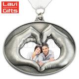 Hot Sale Custom Alliage de zinc moulé sous pression, médaille d'antiquités avec ruban violet