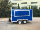 Mobiles Nahrungsmittelauto-Zugpendel mit Markisen-Wohnwagen