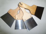 Ruspa spianatrice d'acciaio Polished della lama di mastice della lamierina della maniglia di legno