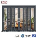 Puerta de vidrio de desplazamiento de aluminio resistente del diseño caliente de la venta para el chalet superior