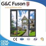 Finestra di alluminio della stoffa per tendine della rottura termica di G&C Fuson con la rete di zanzara
