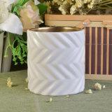 Imbarcazione di ceramica popolare della candela con il reticolo del tessuto