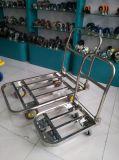 150/200/400kgsステンレス鋼のプラットホームの折るPushcart