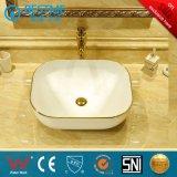 Lavata di ceramica Sinkbc-7034G del bacino di colore dorato sanitario degli articoli