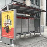 A paragem de autocarro de metal Shelter Rodoviária Publicidade visor caixa de luz