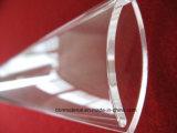 지상 닦는 투명한 절반 둥근 석영 유리 접시