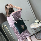 연약한 PU 쇼핑 백 바느질 여자 끈달린 가방 (TTE-008)
