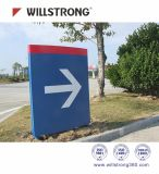 Panneau Acm/ACP de signe en métal de la coutume 3mm/4mm de Willstrong pour Wayfinding