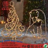 Van het LEIDENE van de Ster van de Kerstman van de Kerstboom van het rendier het Licht Motief van 2D Kerstmis voor Binnen en OpenluchtGebruik