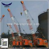 Guindaste móvel do pneumático portuário de Haoyo com cubeta da garra
