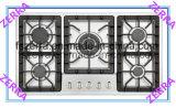 ガス調理の家庭電化製品(JZS4703)で構築される5つのバーナー