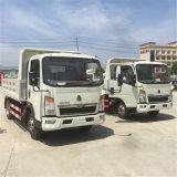 Sino 가벼운 의무 4ton 5ton 쓰레기꾼 덤프 팁 주는 사람 트럭