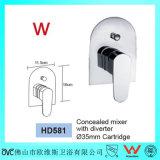 Articles sanitaires de douche de support de mur de filigrane de mélangeur en laiton d'aiguillage (HD581)