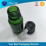 contagoccia di alluminio di vetro del profumo dell'olio essenziale della protezione del contagoccia di colore d'argento di 18mm