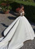 с платьев венчания шнурка мантий шарика плеча Beaded тучных роскошных Bridal 2018 Lb1828