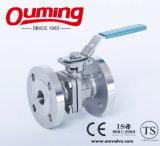 L'acier inoxydable du PC 2 a bridé robinet à tournant sphérique avec le support de fixation élevé
