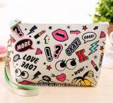 Embrague de coloridos PU Bolsa Bolsa de cosméticos para los viajes del embrague de moda Bolsos con gran capacidad para damas
