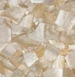 Het binnenlandse Gele Marmer van het Bouwmateriaal kijkt de Volledige Opgepoetste Verglaasde Tegel van de Vloer van het Porselein