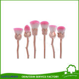Rose Flower Shape Makeup Brush Rose Gold avec Long Handle Utilisation comme décoration Beauty Gift