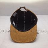 Cappello personalizzato di Hip Hop del comitato della pelle scamosciata 5 del Brown