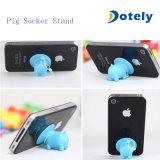 Support de stand de téléphone de silicones d'aspiration de porc pour l'iPhone/Samsung
