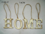 Wood Tag Home Coils Welcome Easter Decoration