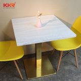Le restaurant moderne de la pierre artificielle Table carrée blanche