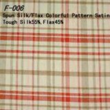 Hilar lino y seda satén de patrón de color