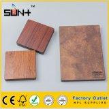 6mm du grain du bois stratifié compact pour mur d'administration